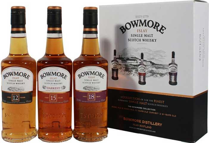 Bowmore Single Malt Collection 3 x 200 ml bottles