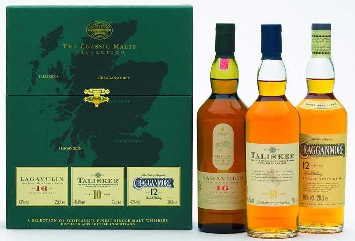 classic malts gift set strong 3 x 200 ml bottles smwhisky